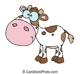 White And Brown Baby Cow