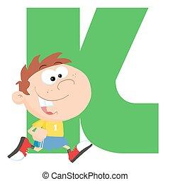 Funny Cartoons Alphabet-K
