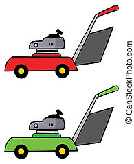 Red And Green Mowers