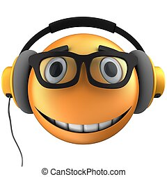 3d orange emoticon smile - 3d illustration of orange...