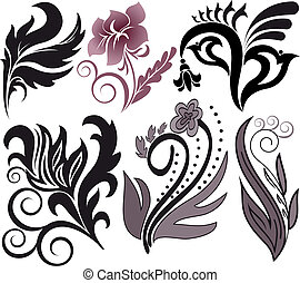 set of plant arrangements - Vector illustration set of...