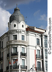 Valladolid - Old building at Plaza Zorrilla near the Campo...
