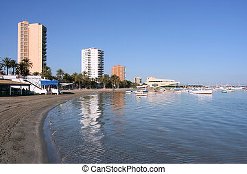 Beach in Murcia region - San Javier near Murcia, Spain....