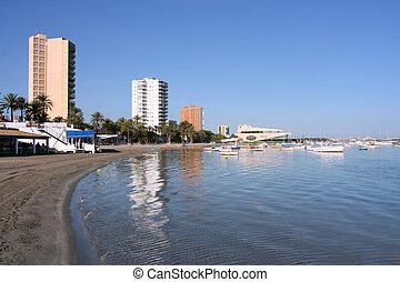 Beach in Murcia region - San Javier near Murcia, Spain....