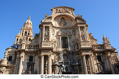 Murcia - Cathedral Church of Saint Mary in Murcia Gothic...