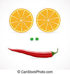 Vegetable face vector illuctration