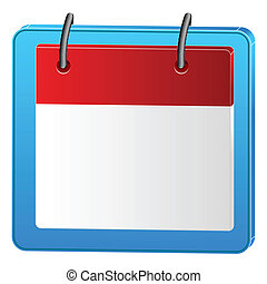 calender icon - illustration of calender icon on white...