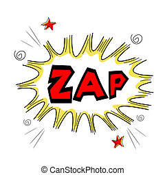 zap text - illustration ofzap text on white background