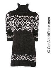 Female turtleneck sweater isolated on white