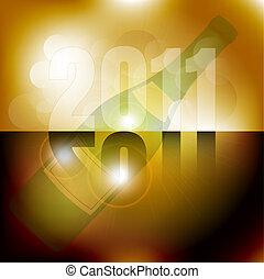 New Year Celebration 2011 Backgroun