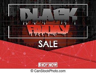 Black Friday sale banner - Vector illustration of Black...
