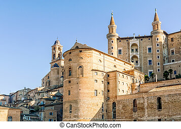 Ducale Palace in Urbino city, Marche, Italy - The...