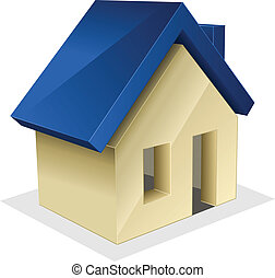 Vector icon of house.