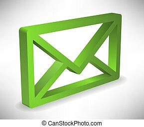 Envelop - Green envelop icon