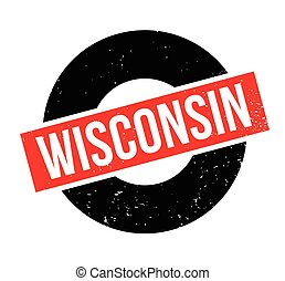 Wisconsin rubber stamp. Grunge design with dust scratches....