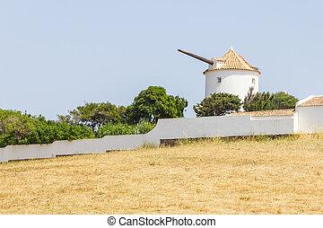 Old Windmill in Vila do Bispo, Algarve, Portugal