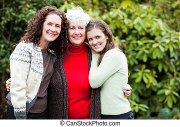 Grandmother, daughter and granddaughter - A multi generation...