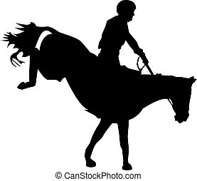 Horse race. Equestrian sport. Silhouette of racing horse...