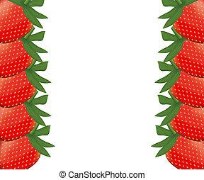 Nature strawberries border