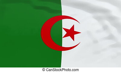 Flag of Algeria - High quality looped animation of a...