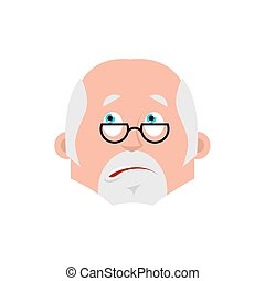 Doctor bewildered emotion avatar. Physician at a loss emoji....