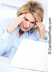 business woman having stress in the office