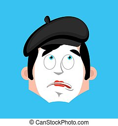 Mime bewildered emotion avatar. pantomime at a loss emoji....