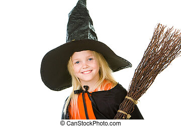 Halloween child - Photo of girl in halloween costume and...