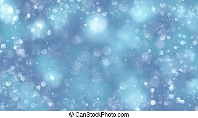 blue bokeh background created by neon lights. 4K 3d...
