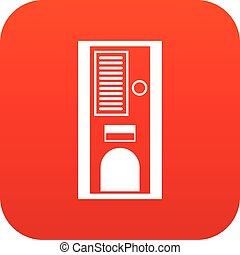 Coffee vending machine icon digital red for any design...
