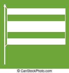 Flag icon green - Flag icon white isolated on green...