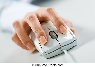 Hand on mouse