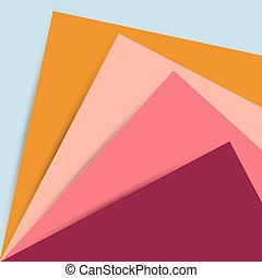 Multi-colored stacked paper designs. paper art vector...