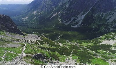 aerial view of mountains landscape - aerial view of...
