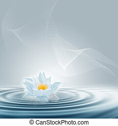 Abstract purification - Purity and meditation background for...