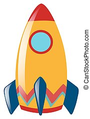 Rocket with round window illustration