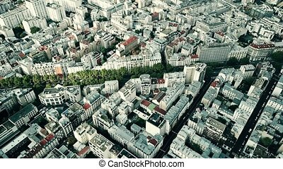 Aerial view of typical Paris cityscape, France - Aerial view...