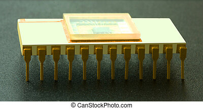 Microcircuit of memory - Ceramic microcircuit of memory with...