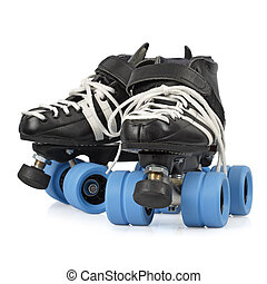 Roller derby skates isolated - Photo of Roller Derby quad...