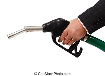 Gas nozzle - Hand holding gas nozzle