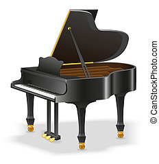 grand piano musical instruments stock illustration isolated...