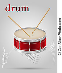 drum musical instruments stock illustration isolated on gray...