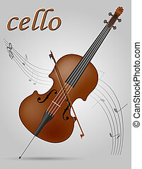 cello musical instruments stock illustration isolated on...