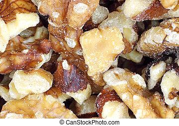 Close view of walnuts