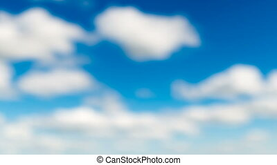 abstract blurry time lapse clouds on blue sky - abstract...