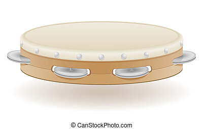 tambourine musical instruments stock illustration isolated...