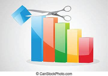 cutting  business graph
