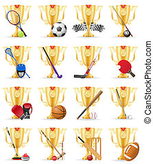 cups winner sports gold stock illustration isolated on white...