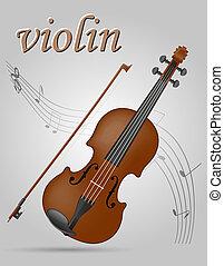 vuolin musical instruments stock illustration - violin...