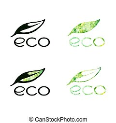 ECO logo collection - Vector set of ECO logo and icons....